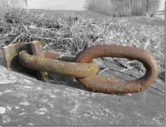 Ankerkette am Rhein