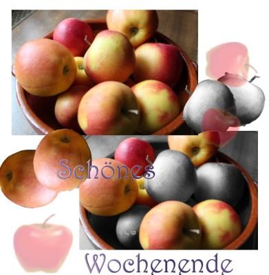 Apfelschale Collage